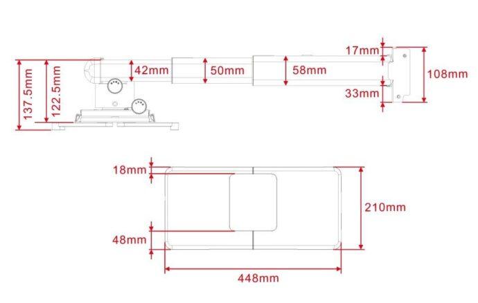 Multibrackets_M_Short_Throw_Deluxe_Projector_300-700_Medium_5